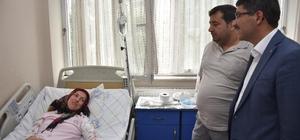 Başkan Çelik şifa bekleyen hastaları yalnız bırakmadı
