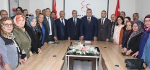 """MHP Nevşehir İl Başkanlığını milletvekillerini tanıttı MHP İl Başkanı Kaya, """"Nevşehir'de 3 milletvekilliğine de talibiz"""""""