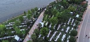 Başiskele'de 5 bin kişi iftar yemeğinde buluştu