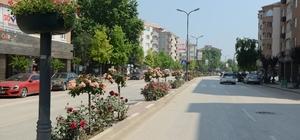 İnegöl caddeleri çiçek açıyor İnegöl Belediyesi havaların ısınmasıyla birlikte başlattığı çevre düzenleme çalışmalarıyla İnegöl'ün dört bir tarafını çiçeklerle donatıyor.