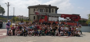 Bozüyük Belediyesi İtfaiye Müdürlüğü'nden 900 minik öğrenciye yangın eğitimi