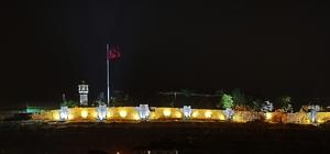 Zile'de 4 bin yıllık kale ve  surlar ışıklandırıldı