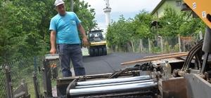 Kartepe'de köy içi yolları asfaltlandı