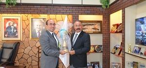 Afyonkarahisar Emniyet Müdürü Şen'den Başkan Çöl'e veda ziyareti