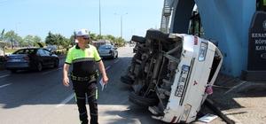 Samsun'da kaza yapan araç yayaya çarptı: 2 yaralı