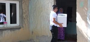 Mahalle bekçisinden 23 aileye ramazan yardımı