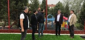 Başkan Bakıcı, Şeyh Şamil Parkı'nda çalışmaları inceledi
