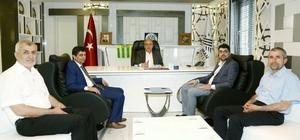 AK Parti Adıyaman Milletvekili Adayı Aslan'dan Başkan Kutlu'ya ziyaret