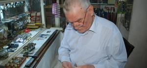 'Tik-tak' sesiyle 68 yıl geçirdi 1950'den bu yana saat tamir ediyor