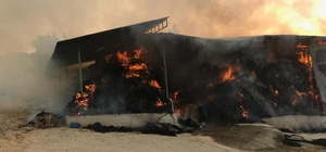 15 bin paket saman yangında kül oldu