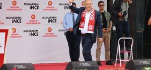 Muharrem İnce Sivas'ta CHP'nin Cumhurbaşkanı adayı Muharrem İnce, Sivas mitinginde yaptığı konuşmada memleketin barışmaya ihtiyacı olduğunu söyledi