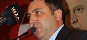 """MHP, Antalya milletvekili adaylarını tanıttı MHP İl Başkanı Mustafa Aksoy: """" Tüm adaylarımız Alparslan Türkeş'tir, parti lideri Bahçeli'dir"""""""