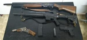 Jandarma uygulamada silah ele geçirdi