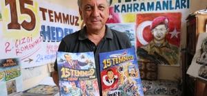"""15 Temmuz Darbe Girişimi çizgi roman oldu Karikatürist Erbil Işın, FETÖ'nun 15 Temmuz'daki hain darbe girişimini, 1 yıldan fazla süren çalışmayla karikatür haline getirerek 2 ayrı çizgi roman hazırlayarak anlattı Erbil Işın, tamamladığı """"15 Temmuz"""" ve """"15 Temmuz 2"""" adlı çizgi romanlarının Cumhurbaşkanı Erdoğan tarafından bastırılıp vatandaşlara ücretsiz dağıtılmasını istiyor"""