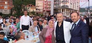 Giresun'un Keşap ve Görele ilçesinde vatandaşlar iftar yemeğinde bir araya geldi
