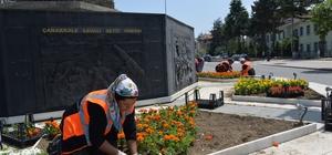 Bozüyük çiçeklerle kaplanıyor Bozüyük'te 23 bin çiçek toprakla buluşacak