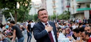 Atakum'da büyük buluşma 5 bin kişi aynı sofrada oruç açtı