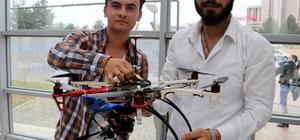 """Üniversite öğrencilerinden 3D yazıcı ile """"yerli drone"""""""