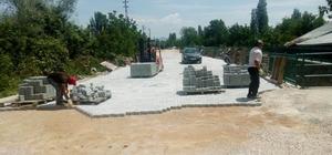 Seydişehir belediyesi parke taş çalışmalarına devam ediyor