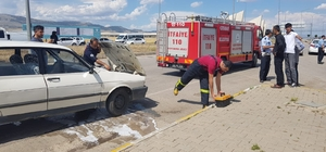 Kaza sonrası olası yangın önlendi