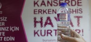 """Su şişelerinde """"kanserde erken tanı"""" uyarısı"""