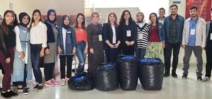 GAÜN Eğitim Fakültesi'nden mavi kapak toplama projesi