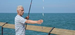 Amatör balıkçıların Ramazan eğlencesi