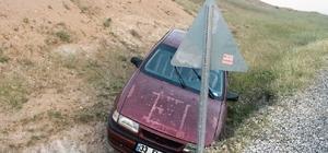 Sürücüsü kalp krizi geçiren otomobil şarampole uçtu: 2 Yaralı