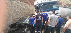 Afyonkarahisar'da trafik kazası, 2 yaralı Araçta sıkışan yaralıyı AFAD ekipleri kurtardı