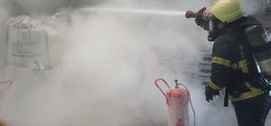 Kocaeli'de yapı malzemeleri fabrikasında yangın Fabrika içerisinde çıkan yangın kısa sürede söndürüldü