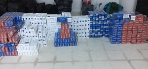 Samsun'da 5 bin 200 paket kaçak sigara ele geçirildi