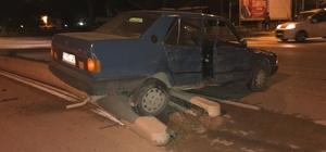 Kazaya karışan araç orta refüjde durabildi Bilecik'te yaşanan trafik kazasında şans eseri yararlanan olmadı