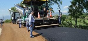 Döşemealtı-Ekşili yoluna sıcak asfalt