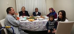 Vali Pehlivan İftarda Deligöz ailesine konuk oldu