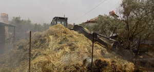 260 paket saman kül oldu