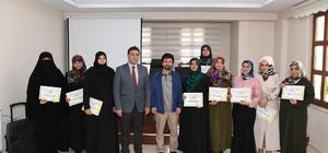 Muratpaşa Mahallesi Müştak Baba Bilgi Evinde Sertifika Töreni