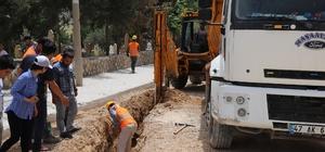 Yeşilli'de doğalgaz çalışmaları başladı