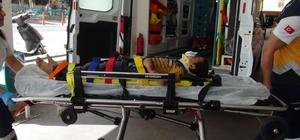 Bahçe duvarından düşen çocuk yaralandı