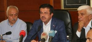 """Bakan Zeybekci'den döviz kuruna ilişkin açıklama Ekonomi Bakanı Nihat Zeybekci: """"Yaşadığımız bu Türk lirasının değeri Türkiye'nin gerçeklerini yansıtmıyor"""" """"Yaklaşık olarak 10 gün diyelim ona bu hafta sonu ve ondan sonraki hafta sonu dahil olmak üzere rahatladığımızı inşallah hep beraber göreceğiz"""" """"Bunların hepsi gelip geçicidir"""" """"Böyle bir ortamda kurla ilgili Türkiye bir spekülasyon yaşıyor"""""""