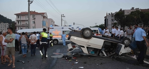 Ortaca'da zincirleme kaza; 4 yaralı