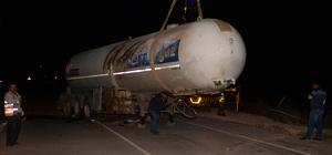 Kilis'te LPG tankerinin devrilmesi