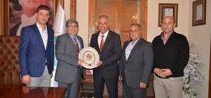 Başkan Yaman, Başkan Can'la bir araya geldi
