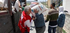 """Kızılay Talas Şubesi'nden Doğu Türkistanlılara 4 tır yardım Kızılay Talas Şube Başkanı Ünal Yüksel: """"Nerede bir yara varsa, oradayız"""""""