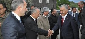 """Bakan Ahmet Arslan STK'larla bir araya geldi UDH Bakanı Ahmet Arslan, """"Bakü-Tiflis-Kars Demiryolu marifetiyle biz Kars'ı ve Türkiye'yi Çin'e kadar bağladık"""""""