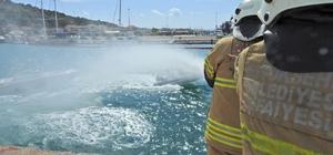 Çeşme Marina'da yaz öncesi yangın tatbikatı