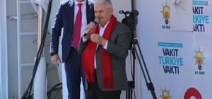"""Başbakan Yıldırım: """"Cumhurbaşkanımızla teröre, darbelere karşı göğsümüzü siper ettiysek, bunu dadaşlardan aldığımız güçle yaptık"""" Başbakan Binali Yıldırım Erzurum'da konuştu """"Dünya ekonomisinden Türkiye bugün yüzde 1 pay alıyor. Bu payımızı yüzde 50 artıracağız"""" """"Erzurum Bağımsızlık mücadelesi için Gazi Mustafa Kemal'in ve Kazım Karabekir'in bağımsızlık hareketini başlattığı şehirdir"""""""