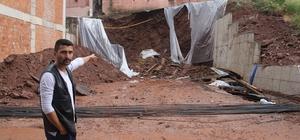 İnşaat sırasında yol çöktü, 5 bina tahliye edildi Ramazan'da sokakta kalan vatandaşlar yetkililerden yardım bekliyor