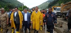 """Başbakan Yardımcısı Hakan Çavuşoğlu: """"Başbakanımızın talimatı ile vatandaşlarımızın zararı karşılanacak"""" """"Bursa - Orhaneli yolu akşam saatlerinde trafiğe açılması planlanıyor"""""""