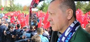 Cumhurbaşkanı Erdoğan ve Başbakan Yıldırım Erzurum'da Seçim çalışmalarını Erzurum'dan başlattı Cumhurbaşkanı ve Başbakana şehir girişinde coşkulu karşılama