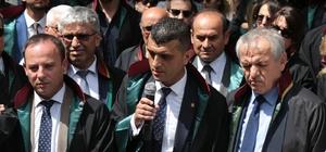 """Baro başkanına saldırı iddiasına tepki Mersin Barosu Başkan Vekili Özdemir: """"Bu saldırıyı kabullenmek hukuken ve vicdanen mümkün değil"""""""